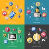 De veiligheidsconcept van Internet Stock Afbeeldingen