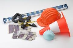 De veiligheidshulpmiddelen van de bouw Royalty-vrije Stock Afbeeldingen