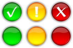 De veiligheidsknopen en pictogrammen van het Web stock illustratie