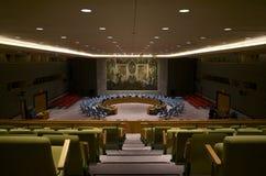 De Veiligheidsraadzaal van de Verenigde Naties Stock Foto's