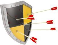 De veiligheidsschild van de veiligheidsrisicobescherming royalty-vrije illustratie