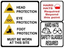 De veiligheidstekens van de bouw Stock Afbeeldingen
