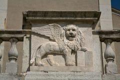 De Venetiaanse Leeuw van San Marco Stock Fotografie