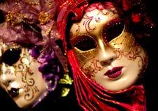 De Venetiaanse Maskers van Carnaval Stock Afbeeldingen
