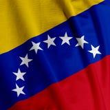 De Venezolaanse Close-up van de Vlag Stock Afbeelding