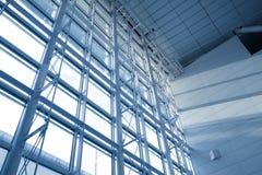 De vensters morden binnen de bureaubouw Stock Afbeelding