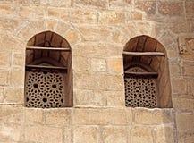 De vensters van Arabesque Stock Foto's