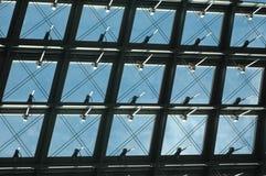 De Vensters van Berlijn Hauptbahnhof Stock Afbeelding