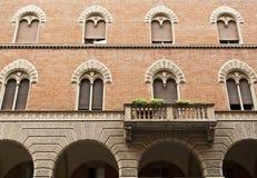 De Vensters van Bologna Stock Foto