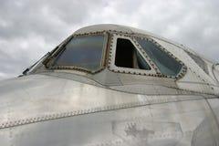 De Vensters van de cockpit Stock Foto