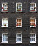 De vensters van de flat Stock Foto