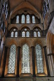 De Vensters van de kathedraal van Salisbury stock foto