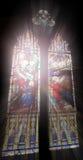 De vensters van de kerk Stock Afbeelding
