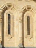 De vensters van de kerk Stock Foto