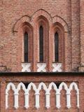 De Vensters van de kerk Stock Fotografie