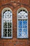De vensters van de oude tempel Royalty-vrije Stock Foto's