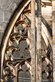 De vensters van de zandsteenboog van gothical kerk Royalty-vrije Stock Fotografie