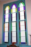 De vensters van het gebrandschilderd glas. Royalty-vrije Stock Foto