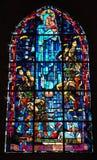 De vensters van het gebrandschilderd glas Stock Afbeeldingen