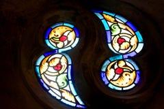 De Vensters van het gebrandschilderd glas Stock Foto
