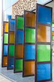 De Vensters van het gebrandschilderd glas royalty-vrije stock afbeelding