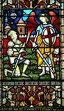 De vensters van het gebrandschilderd glas, Christchurch, Nieuw Zeeland royalty-vrije stock afbeelding