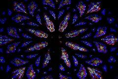De vensters van het gebrandschilderd glas. St.Patrick Kathedraal Stock Foto's