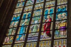 De Vensters van het Gebrandschilderd glas van de Kathedraal van Brussel Royalty-vrije Stock Afbeeldingen