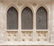 De vensters van het kasteel royalty-vrije stock foto