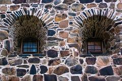 De Vensters van het kasteel Stock Foto