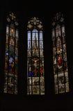 De vensters van het kathedraalgebrandschilderde glas Royalty-vrije Stock Foto's