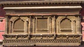 De vensters van Newararchitecure - Katmandu Stock Foto's