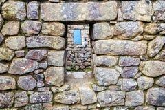 De vensters van Picchu van Machu Stock Afbeelding