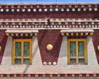 De vensters van Tibet Stock Foto's