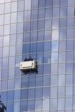 De vensterswasmachines van de wolkenkrabber royalty-vrije stock afbeelding