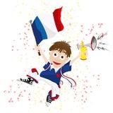 De Ventilator van de Sport van Frankrijk Stock Afbeeldingen