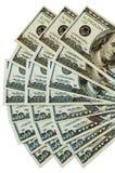 De ventilator van het geld Stock Afbeelding