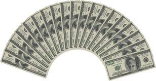 De ventilator van het geld Royalty-vrije Stock Afbeelding