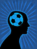 De ventilator van het voetbal Stock Foto's