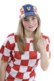 De ventilator van Kroatië Stock Foto's