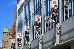 De ventilator van Montreal Canadezen Stock Fotografie