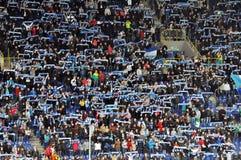 De ventilators van de Dniepr heffen sjaals op Stock Foto