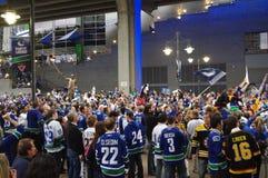 De ventilators van het Vancouver Canuckshockey Royalty-vrije Stock Foto's