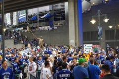 De ventilators van het Vancouver Canuckshockey Royalty-vrije Stock Afbeeldingen