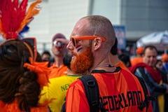 De ventilators van Holland bij de Kop van FIFAWorld van 2014 Stock Fotografie