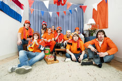 De ventilators van sporten thuis Royalty-vrije Stock Foto