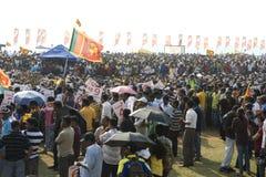 De ventilators van Sri Lanka bij de Kop van de Wereld van de Veenmol 2011 Royalty-vrije Stock Afbeeldingen