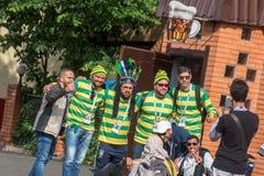 De ventilators van de voetbalverdediger Royalty-vrije Stock Foto's