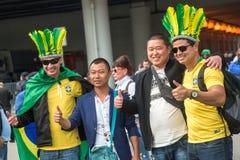 De ventilators van de voetbalverdediger Stock Foto