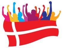 De ventilatorsillustratie van Denemarken royalty-vrije illustratie